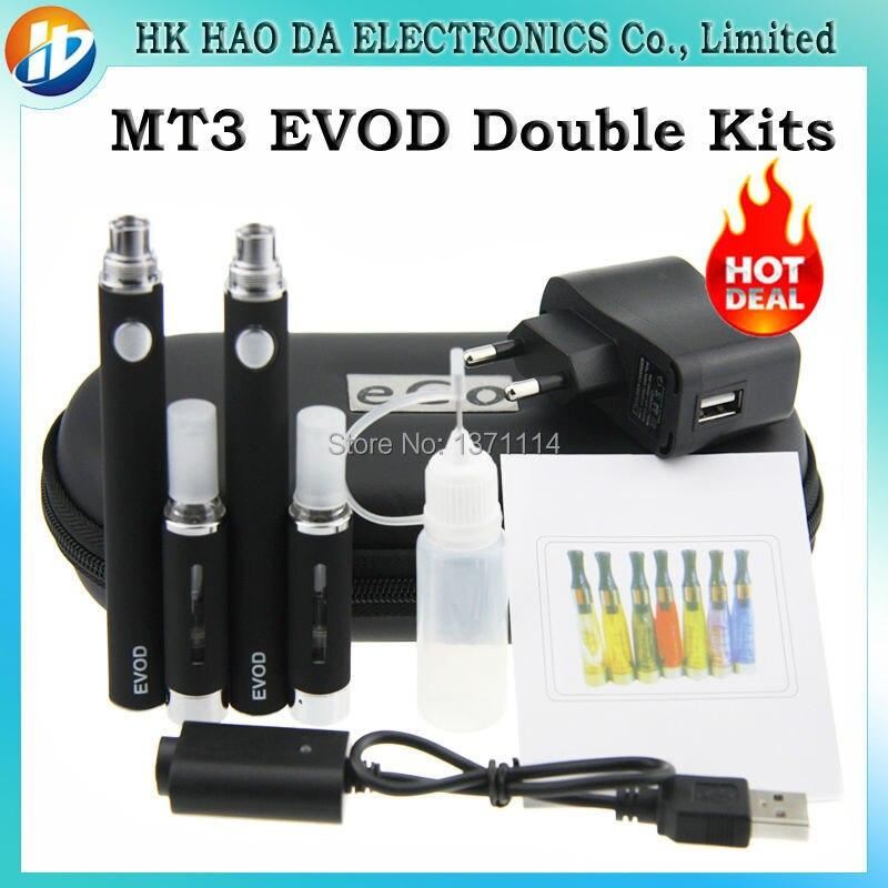 Double MT3 EVOD font b Electronic b font font b Cigarette b font Kits EVOD MT3