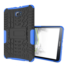 Case For Samsung Galaxy Tab A6 A 10.1″T585 T580 Tablet Cover Armor Shockproof Heavy Duty TPU+PC Stand Cases SM-T585N T580 Shell