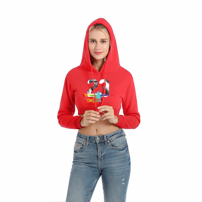 af6b46e99f4cdc ... Brand Cotton Fashion JORDAN 23 Women Sportswear Print Womens Hoodies  Pullover Hip Hop Woman Tracksuit Sweatshirts ...