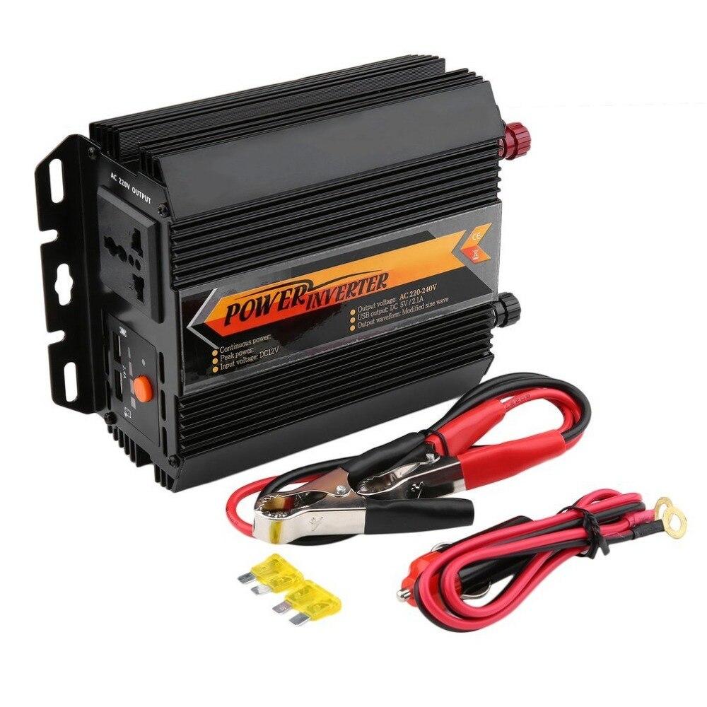 750W Power Inverter DC12V to AC220V Charger Converter Car Vehicle Home Using Power Supply Inverter Peak Power 1500W