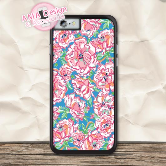 Pastel Floral Lilli Pulitzer Lovely Protective Case For iPhone X 8 7 6 6s Plus 5 5s SE 5c 4 4s For iPod Touch