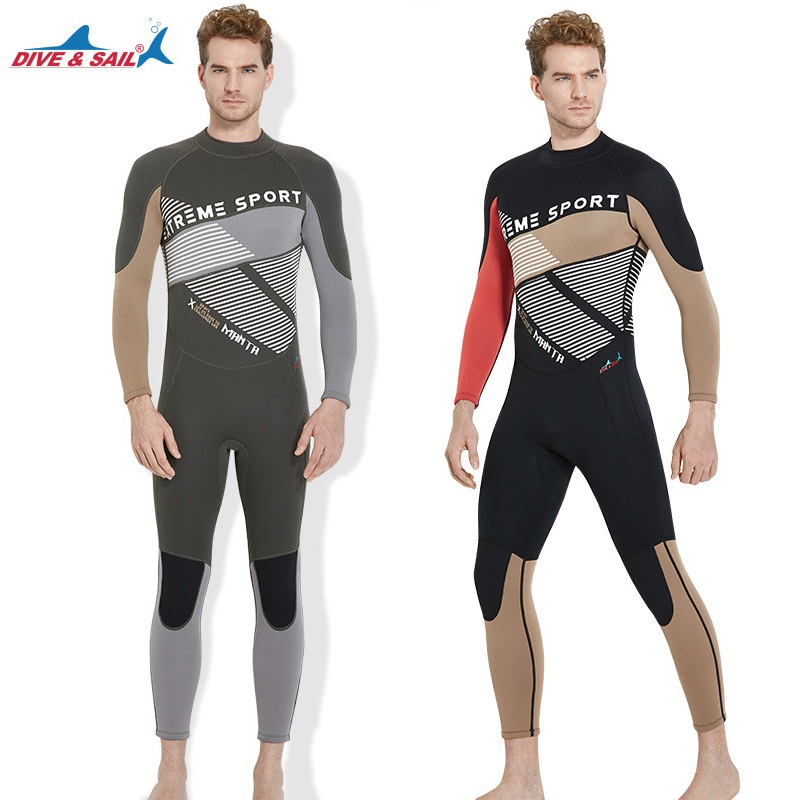 3MM Winter Neoprene Scuba Diving Wetsuit For Men's Spearfishing Wet Suit Long Sleeve Full Body Surf Swim Snorkeling Diving Suit sbart 2017 3mm neoprene full body wetsuit women winter warm long sleeve surfing diving suit anti uv diving swimming suit
