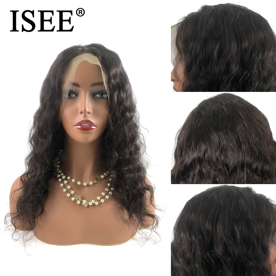 Brazilian Loose Deep Wave Wigs For Black Women Remy 150% Density 13X4 ISEE HAIR Wigs 13X6 Loose Deep Lace Front Human Hair Wigs