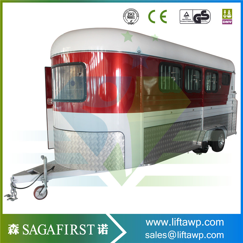 SINOFIRST 2 Horses Trailer Truck Road Float In Stock