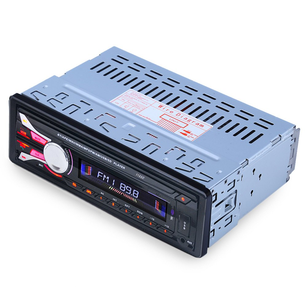 Hot bluetooth car radio mp3 player Car Radio Detachable separate front panel anti theft CAR Audio 12V car stereo FM function