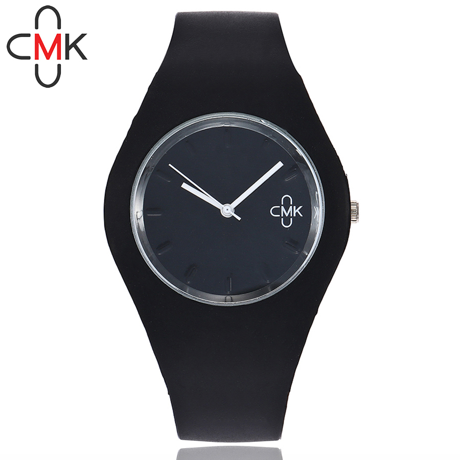 CMK Brand Women Silicone Band Sport Watch Casual Fashion Colorful Quartz Bracelets Watches Gift Clock Relogio Feminino Hot 2017 luxury brand fashion personality quartz waterproof silicone band for men and women wrist watch hot clock relogio feminino