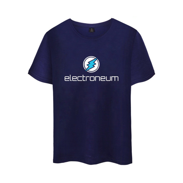 Electroneum Logo Print T-shirt Electroneum cryptocurrencies Cotton tee shirt Short Sleeve Sleeve Blockchain  Bitcoin clothes 3