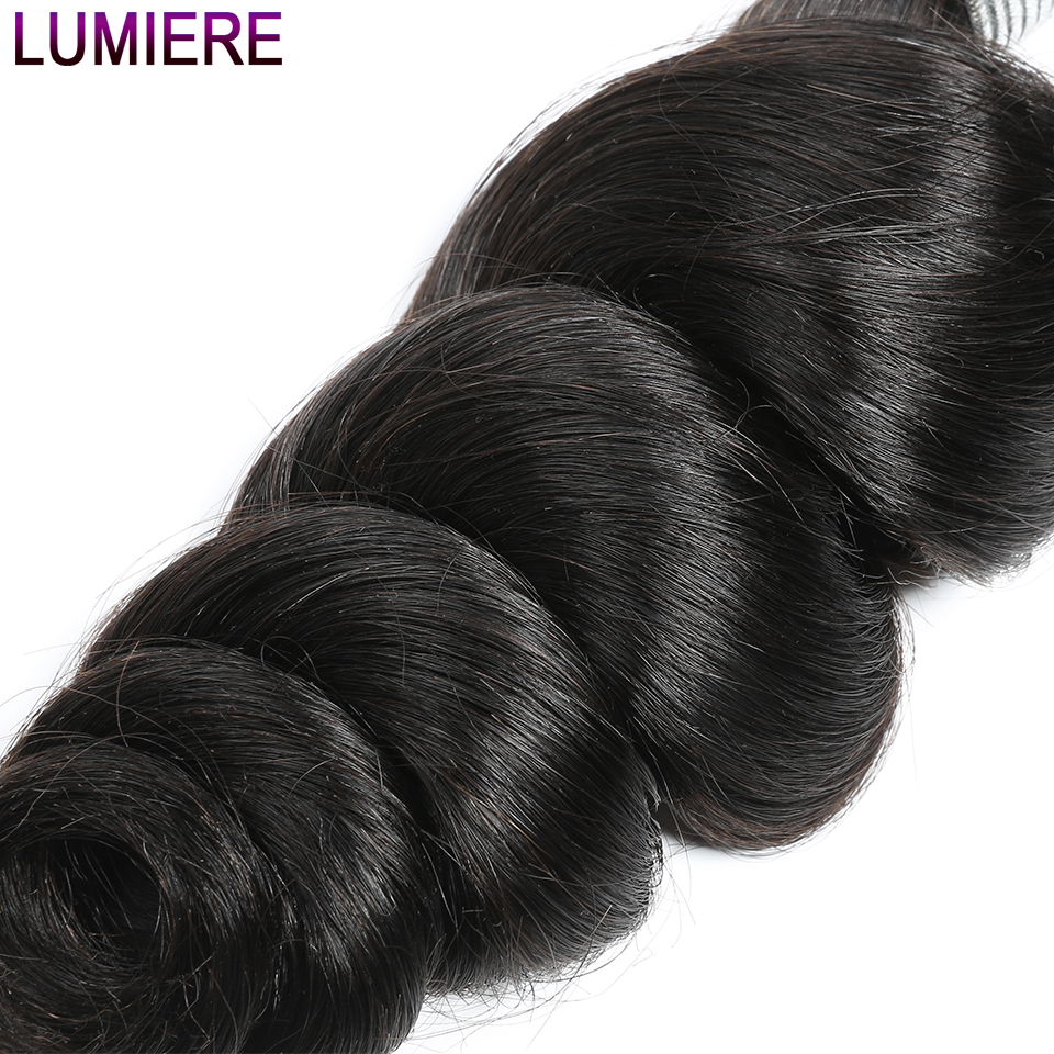 Lumiere Hair Brazilian Loose Wave 4 Bundles Remy Hair Bundles Brazilian Hair Weave Bundles 100% Human Hair Extention