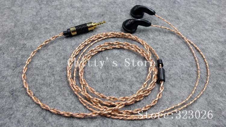DIY Vocal earphone 2.5mm balanced plug 150ohms transparent film pk1 driver diy se535 earphone