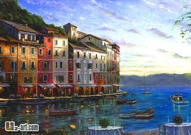 Canvas prints reproductionof Robert Finale oil painting wall ...