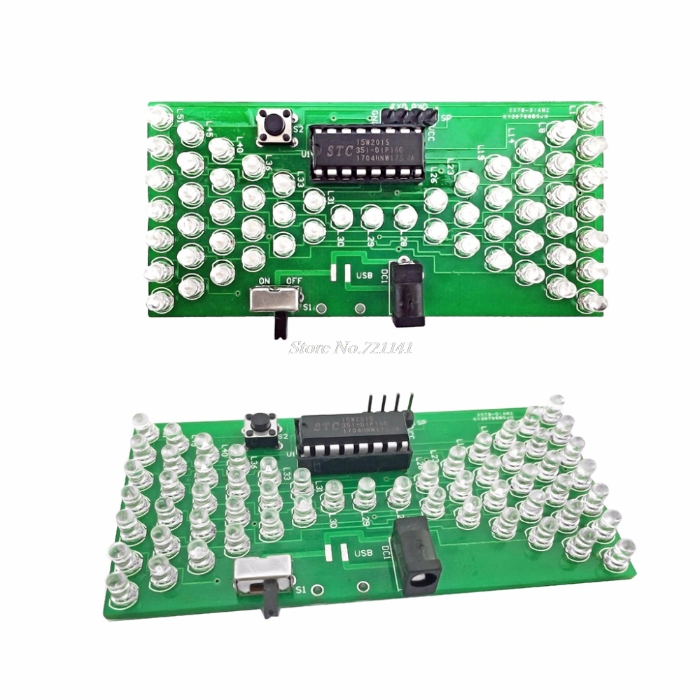 5V Electronic Hourglass DIY Kit Funny Electronic Production Kits with LED Electronic Hourglass Kits electronics