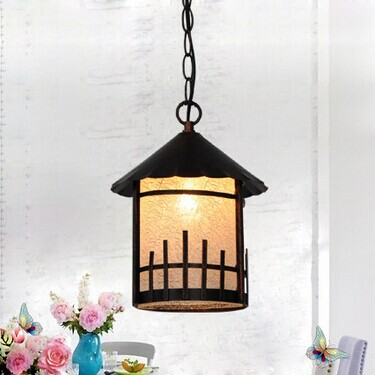 American country Mediterranean pastoral Small house Led pendant light For Coffee hall entrance balcony,E27 Bulb Included american country retro creative loft ceiling lamps e27 1 bulb included vintage light for balcony corridor aisle bar coffee hall