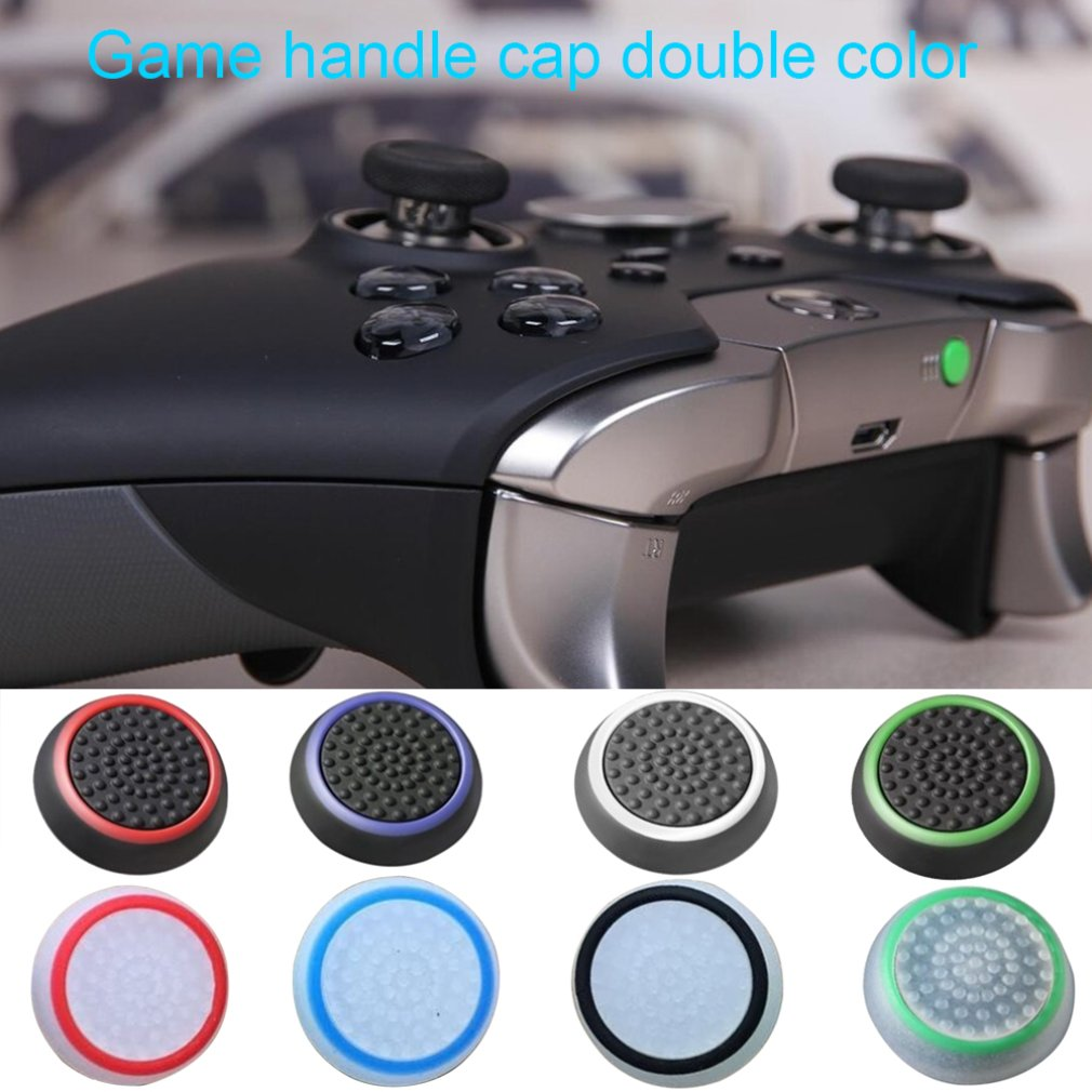 Double Rocker Enhanced Raised Silicone Rubber Analog Stick Thumb Grips Joystick Cover Caps For Playstation 4 PS4 PS3 XBOX One