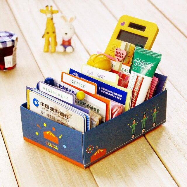 Free Shipping Diy Business Card Desktop Paper Storage Mini Miscellaneously Finishing Box Stationery Desk Accessories Organizer