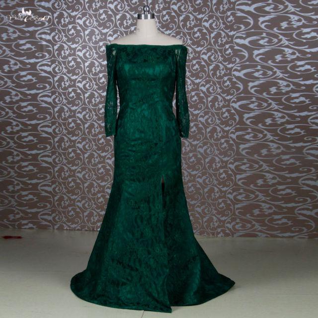 Rse644 sereia verde esmeralda mãe de vestidos de noiva andar de comprimento do ombro