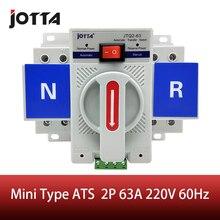 Американская классификация проводов 2р 63A 230V МСВ Тип белого цвета с двумя Мощность автоматического переключения ATS Номинальное напряжение 220 V/380 V Номинальная частота: 50/60 Гц