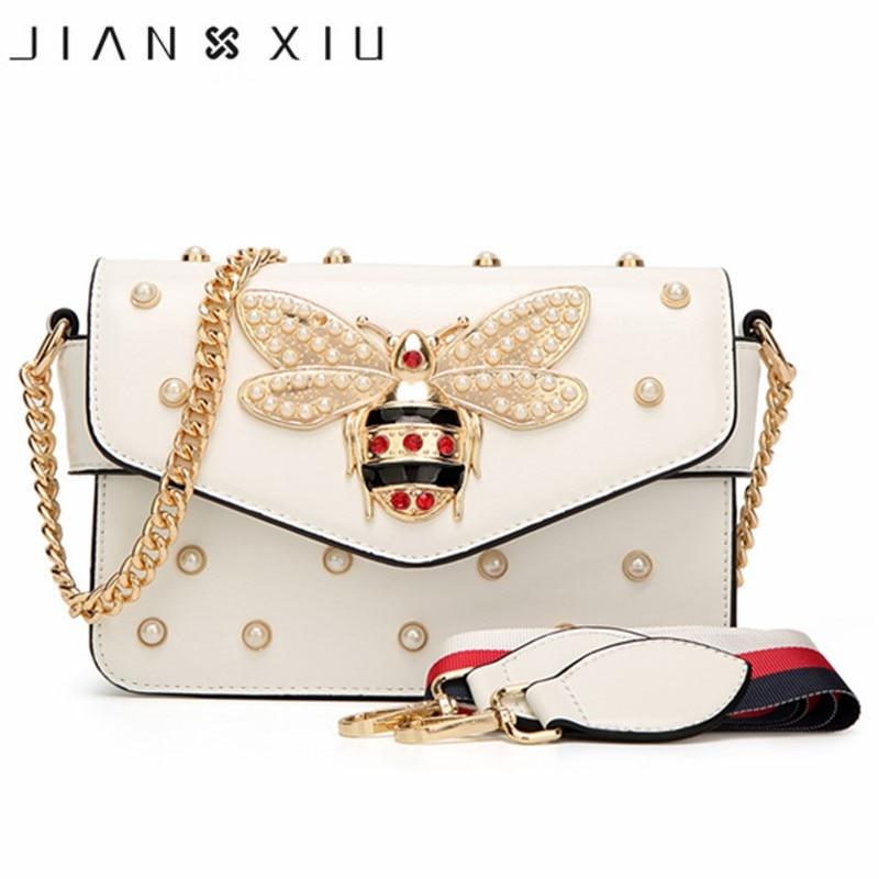 Ins Messenger Bag Bee Leather Bolsa Feminina Cover Lock Luxury Handbags Women Bags Designer High Quality Crossbody Shoulder Bags
