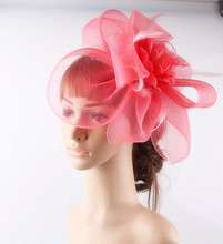 Multiple color crinoline fascinator headwear