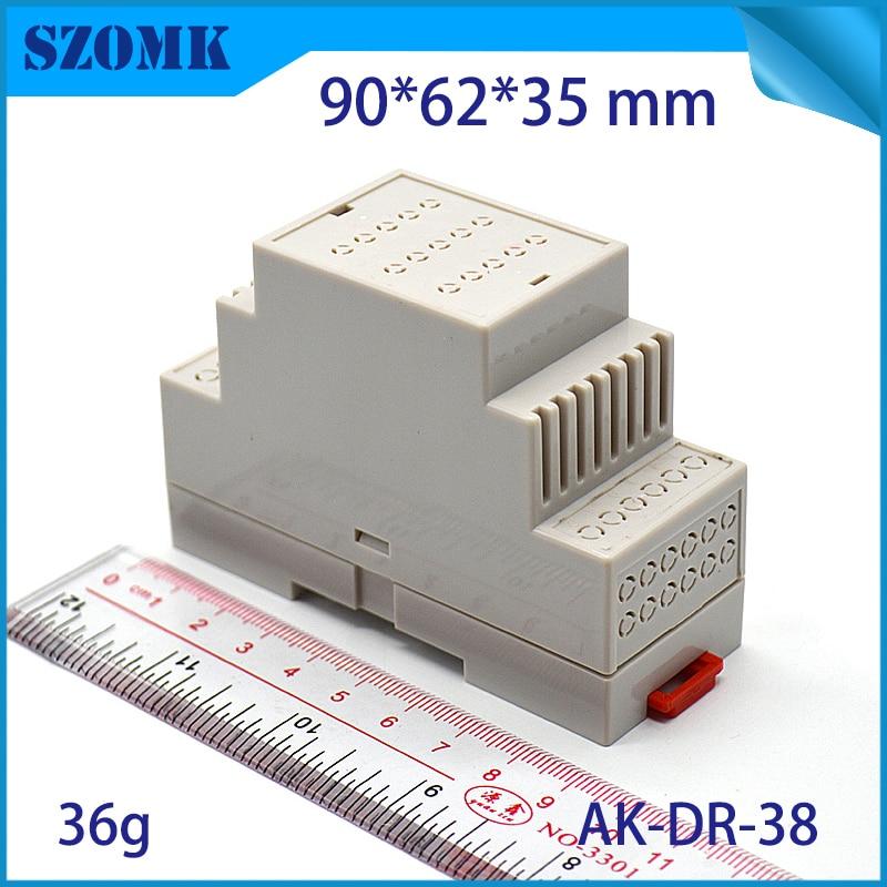 1pc  87*60*35mm plastic box electronics din rail enclosure switch housing box