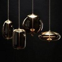 Tom Dixon Glass Pendant Hanging Lamp for Restaurant Cafe Bar Bedroom Living Room Clothing Store Shop Hotel Bubble Light Decor
