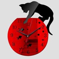 Новый настенные часы горячая Распродажа настоящие часы reloj де сравнению современный дизайн условием гостиная иглы акриловые Европа horloge Бе...