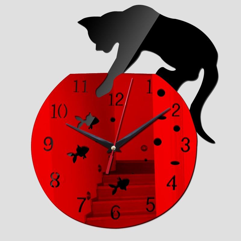2017 new wall clock hot sale real clocks reloj de pared modern design qua living room needle acrylic europe horloge freeshipping