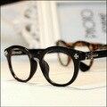 Complejo Guke Luo corazón transparente circular gafas moda gafas gafas hombres y mujeres modelos de la versión coreana de los nuevos 2015