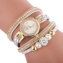 Высококачественные красивые женские часы-браслет, женские часы, повседневные круглые Аналоговые кварцевые наручные часы-браслет, 75