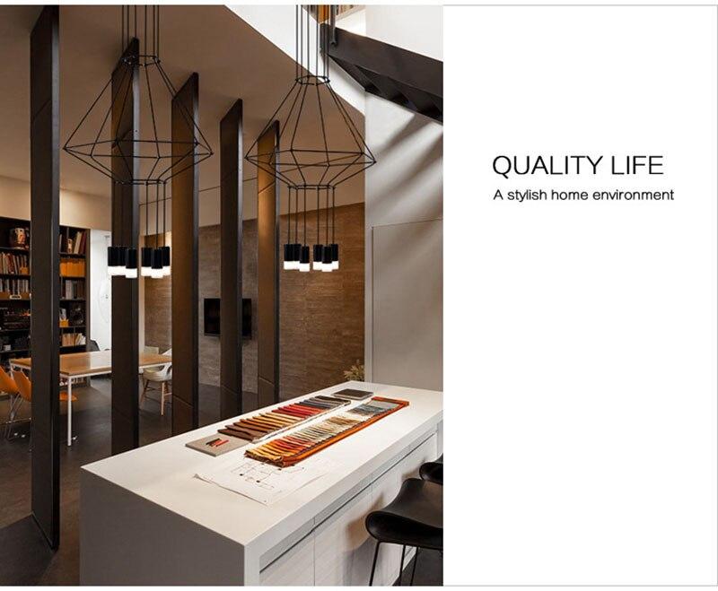 100% Waar Moderne Lamp Suspendue Lumiere Led Een Kribbe Lit Chambre Foyer Rond Boule-de-verre Noir Of Nordique Eenvoudige Moderne Hanger Lamp Pure En Milde Smaak