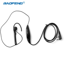 Baofeng Accessories Hanging Ear PTT Headphone K Jack with Microphone In-ear Radio Headset for UV-5R BF-888S Walkie Talkie