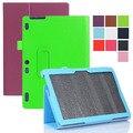 "Pu magnetic folio folding stand caso capa de couro para lenovo tab 2 a10-30 tb2-x30f tb2-x30l 10.1 ""polegadas tablet pc"