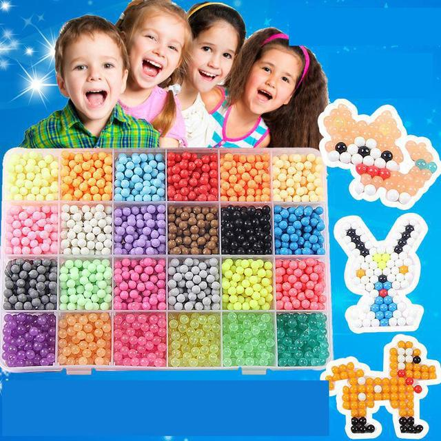 New 2018 DIY Water Mist Magic Beads Toys For Children Animal Molds Hand Making Puzzle Kids Educational Toy Hand Spinner 8 option
