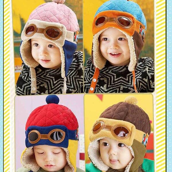 Hot Sale Toddlers Warm Cap Hat Beanie Cool Baby Boy Girl Kids Infant Winter Pilot Cap X5