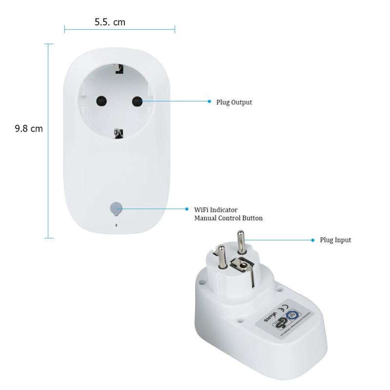 EU Plug Wifi Mini Smart Socket Switch Wireless Remote Control Automation Power Socket Timer Switch for IOS Android Smartphone