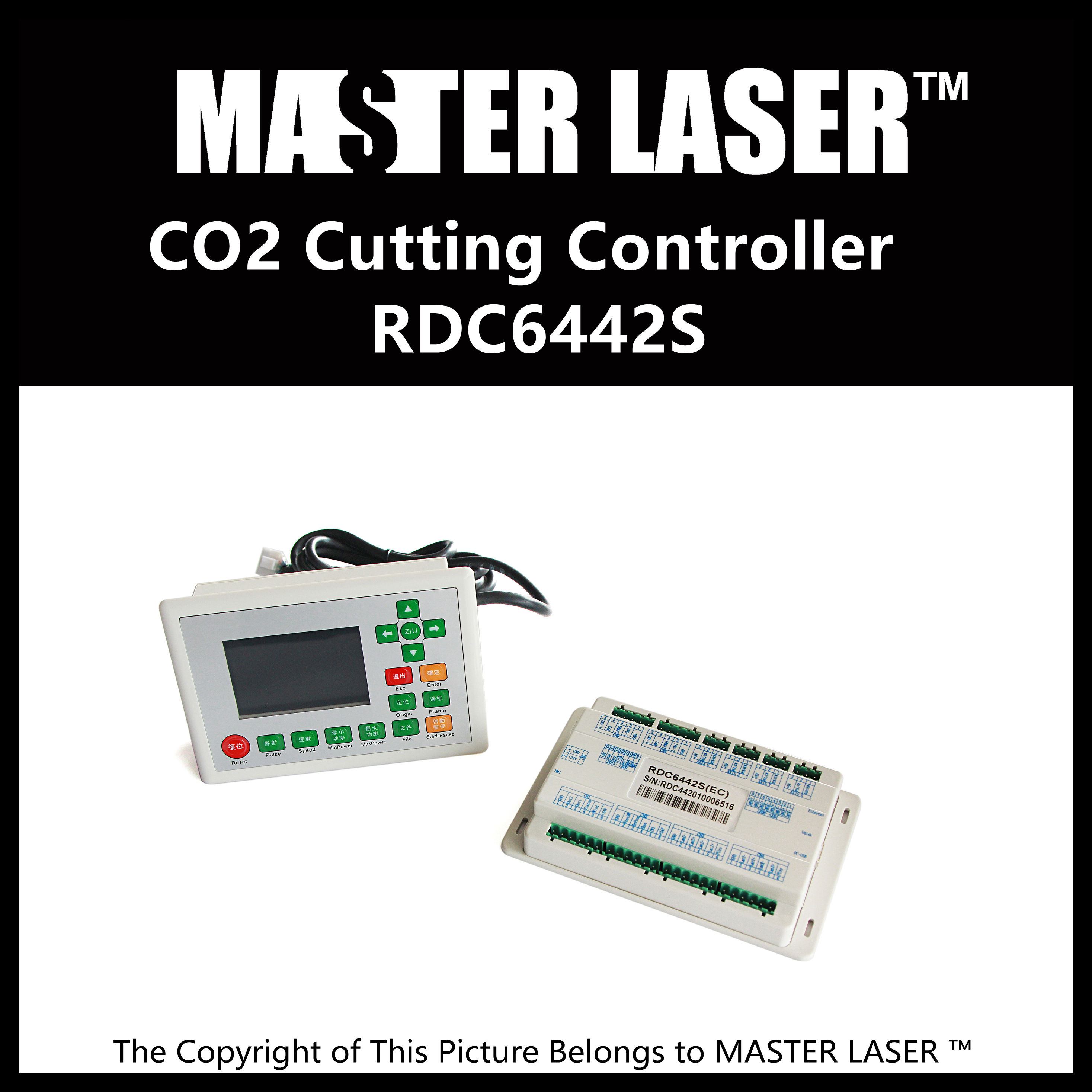 Low Price UPGRADE DSP Controller for Laser Engraving Cutting Machine RUIDA RDC6442G RDC6442S Laser Motion Control Card new generation highest power 100w laser tube 80w for fabric laser cutting machine price low