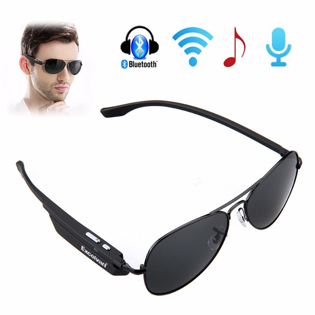 9e093c1f9a Sunglasses Bluetooth Headset Outdoor Glasses Earbuds Music with Mic Stereo Wireless  Headphone for iPhone Samsung Sony