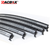 RACBOX 5D 22 32 42 50 Inch Curved LED Light Bar 200W 300W 400W 480W Combo Beam Black Lens LED Work Light DRL For OffRoad ATV SUV