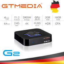 Originele GTMEDIA G2 TV Box 4K HDR Android TV 7.1 Ultra HD 2G 16G WIFI Google Cast netflix IPTV Set top Box 4 Media Player(China)