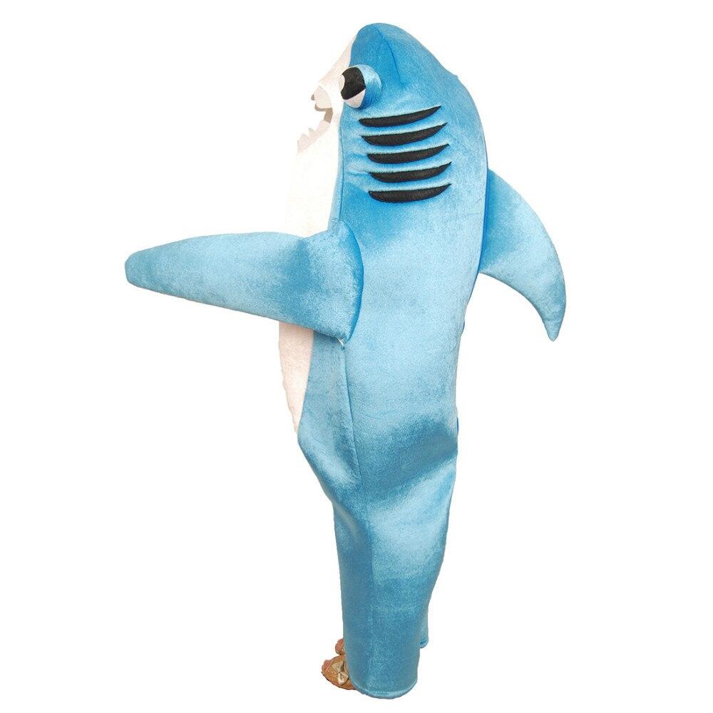 Детский костюм акулы вечерние костюмы талисмана с животными для взрослых, Детский костюм на Хэллоуин, нарядное платье, Комбинезоны для мужч... - 2