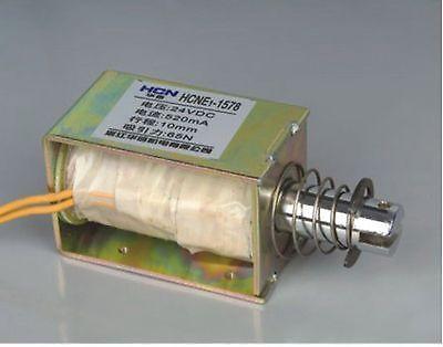 24V Pull Hold/Release 10mm Stroke 6.5Kg Force Electromagnet Solenoid Actuator 24v pull hold release 10mm stroke 6 3kg force electromagnet solenoid actuator