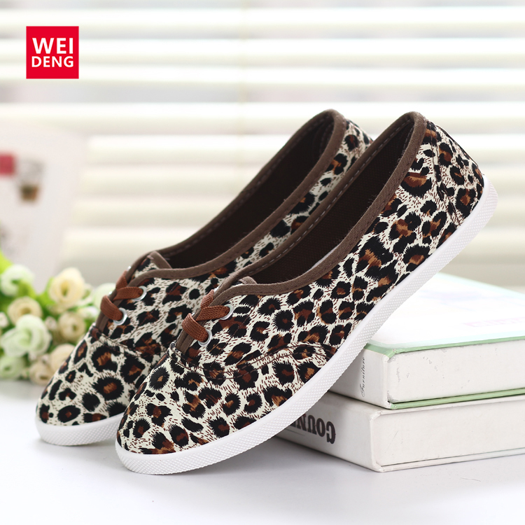 10 Colors Women Slip On Casual Canvas Shoe Fashion Breathable Women Espadrilles Flat Shoes 2016 New Chinoiserie Printed Leopard