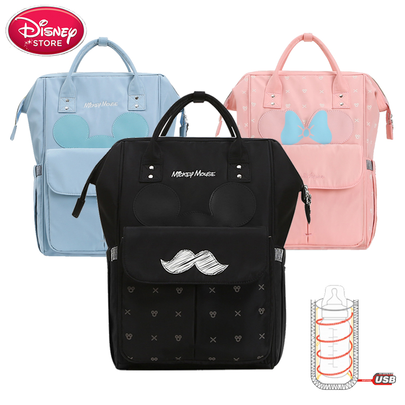 Disney Diaper Bags 2019 New Mummy Baby Bags with USB Bottle Insulation Nappy Bag Minnie Mickey Handbag Backpack for Baby CareDisney Diaper Bags 2019 New Mummy Baby Bags with USB Bottle Insulation Nappy Bag Minnie Mickey Handbag Backpack for Baby Care
