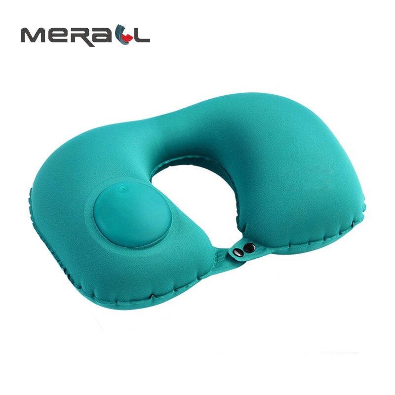 Instrumento de Viagem Azul Travesseiros Sono Inflável Almofada