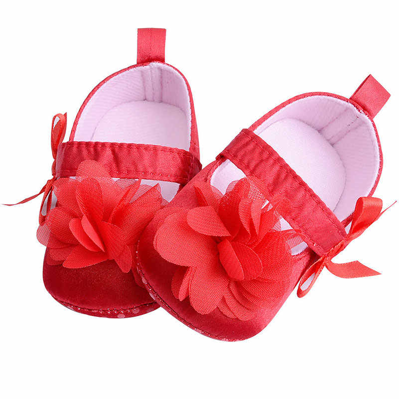 Детские ботинки мокасины с кружевным цветком для новорожденных, для малышей, для первых прогулок, для девочек, противоскользящие, для кроватки, для детей от 0 до 18 месяцев