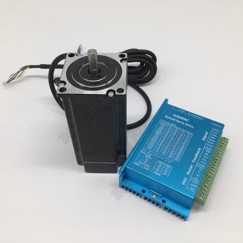 Nema23 2Nm Closed Loop Stepper Motor Driver 3phase Hybrid Easy DC Servo Kit CNC