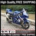8Gift Factory blue  For SUZUKI GSXR750 2004 2005 GSXR600 K4 2JK899 Blue white GSX R750 R600 04-05 GSXR 750 600 04 05 Fairing