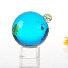 H&D 50mm Sky Blue Asian Rare Quartz Crystal Ball Home Decoration Office Lucky Natural Fengshui Magic Healing Crafts Figurines(China)