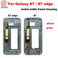 Original Middle Bezel Frame Cover Case For Samsung Galaxy S7 G930 / S7 edge plus G935 Housing +Camera Glass+Side Button
