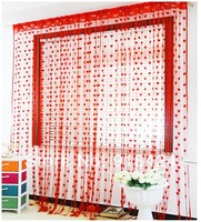 Finished Product Wear Tube Home Decor Heart String Curtain,Size 3*3m,free shipping!