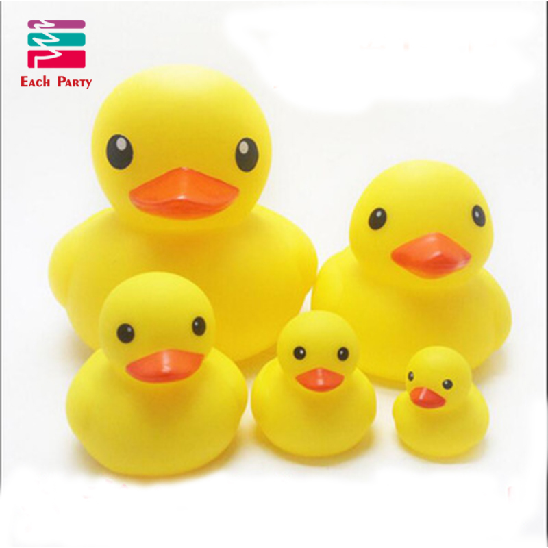 4pcs/lot Yellow duck gifts Squeeze sounding babbling toy rubber ...